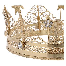 STOCK Coroa para Santo latão dourado 16 cm s2