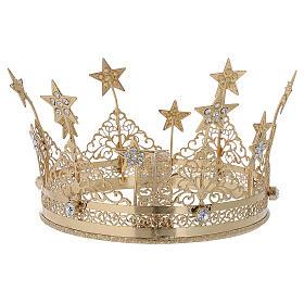 STOCK Coroa para Santo latão dourado 16 cm s3