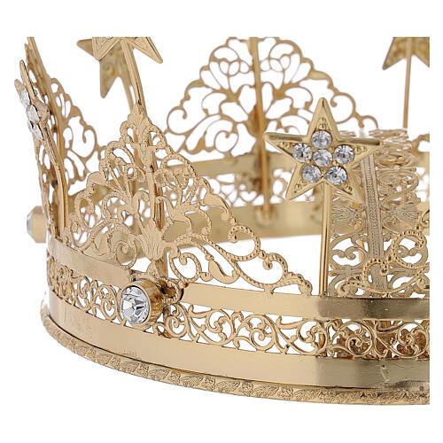 STOCK Coroa para Santo latão dourado 16 cm 2