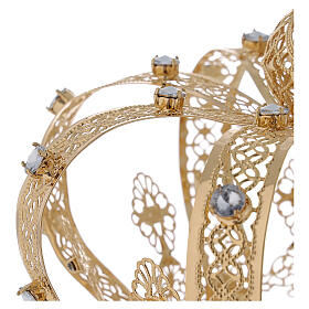 Corona para Santos latón dorado 14 cm s3