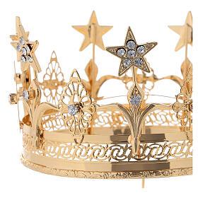 Corona para Santos latón dorado 14 cm s2