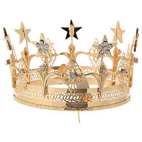 Corona para Santos latón dorado 14 cm s4