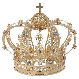 Corona Per Santi ottone dorato 14 cm s1