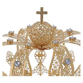 Corona Per Santi ottone dorato 14 cm s2