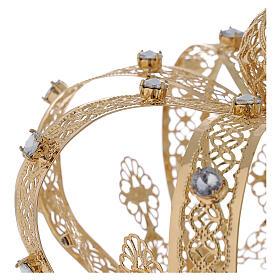 Corona Per Santi ottone dorato 14 cm s3