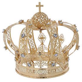 Corona Per Santi ottone dorato 14 cm s4