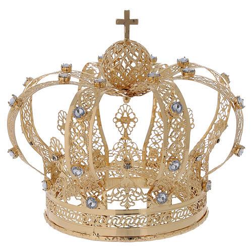 Corona Per Santi ottone dorato 14 cm 1