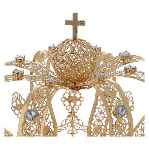 Corona Per Santi ottone dorato 14 cm 2