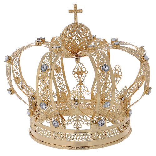 Corona Per Santi ottone dorato 14 cm 4