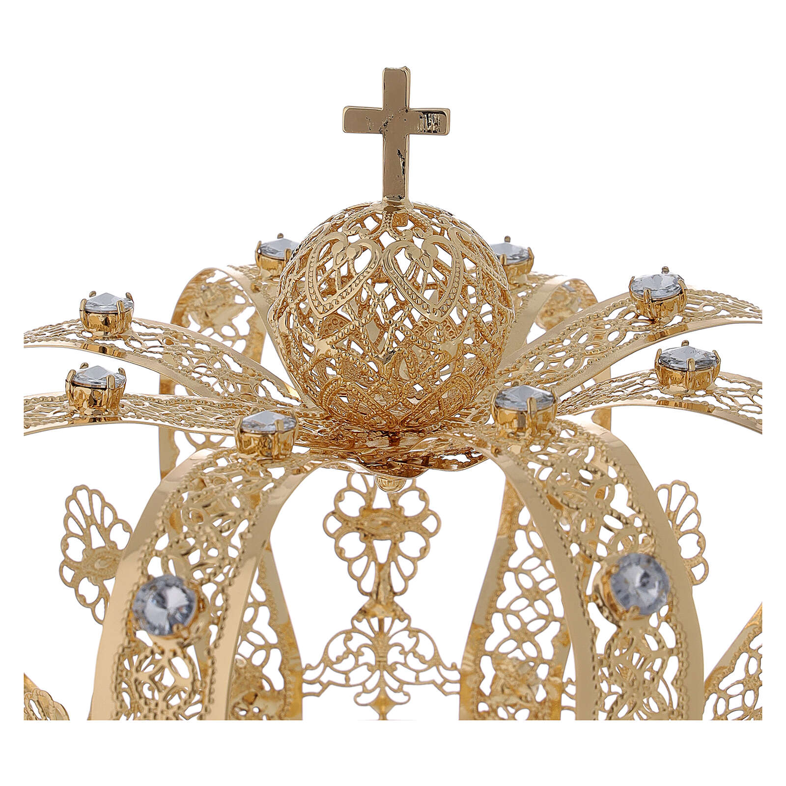 STOCK Coroa para Santos latão dourado 14 cm 3