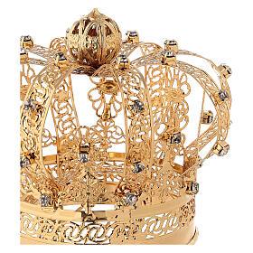 Corona Madonna ottone dorato diam 9 cm s2