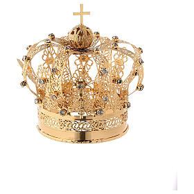 Corona Madonna ottone dorato diam 9 cm s4