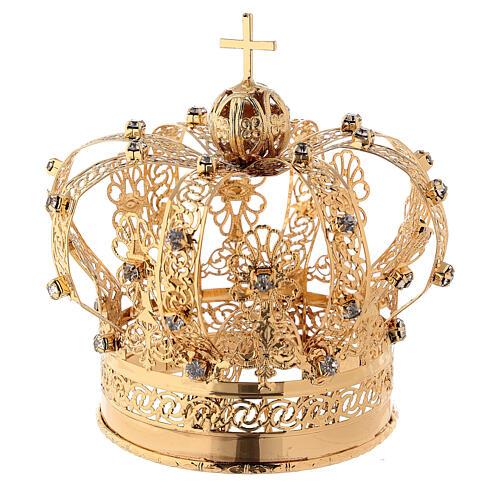 Corona Madonna ottone dorato diam 9 cm 1