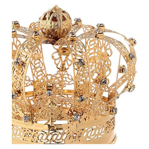 Corona Madonna ottone dorato diam 9 cm 2