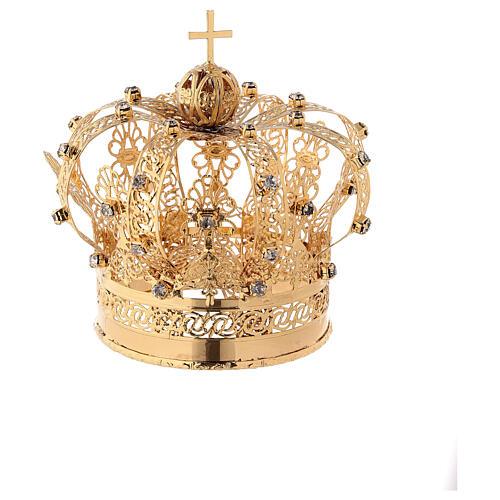 Corona Madonna ottone dorato diam 9 cm 4