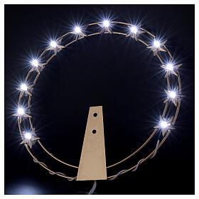 STOCK Stellario led aureola ottone dorato 20 cm s2