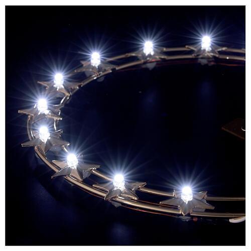 STOCK Stellario led aureola ottone dorato 20 cm 3
