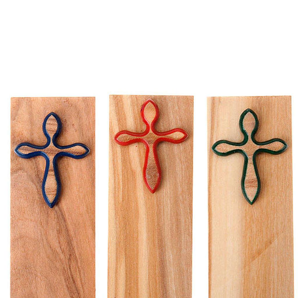 Segnalibro croce colorata 4