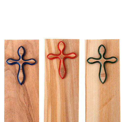 Segnalibro croce colorata 2