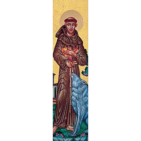 Bookmark with Saint Francis and wolf s1