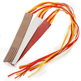 Marcador de livro couro 4 fitas s1