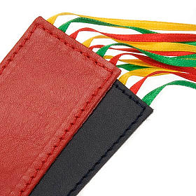 Bookmark for Bible in leather, 6 ribbons Pax et Bonum s3