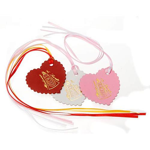 Marcalibros piel corazón personalizables 1