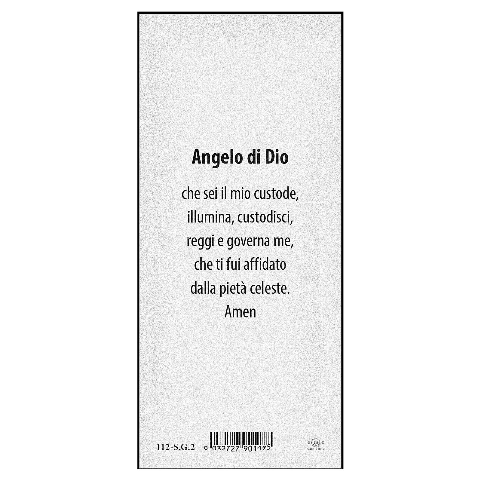 Segnalibro carta perlata Angelo sul ponte Angelo di Dio 15x5 cm ITA 4