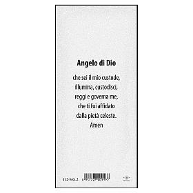 Segnalibro carta perlata Angelo sul ponte Angelo di Dio 15x5 cm ITA s2