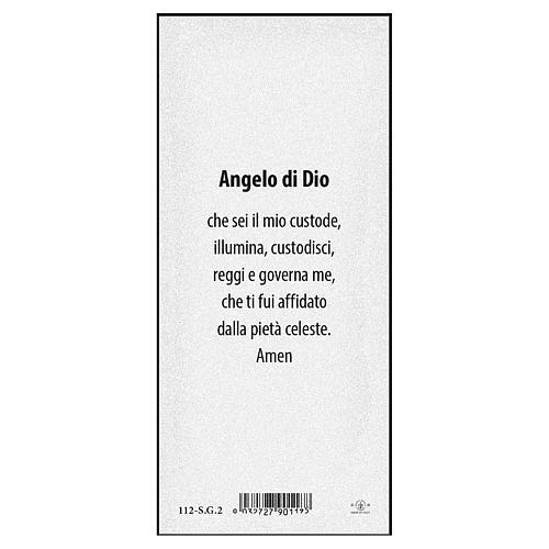 Segnalibro carta perlata Angelo sul ponte Angelo di Dio 15x5 cm ITA 2