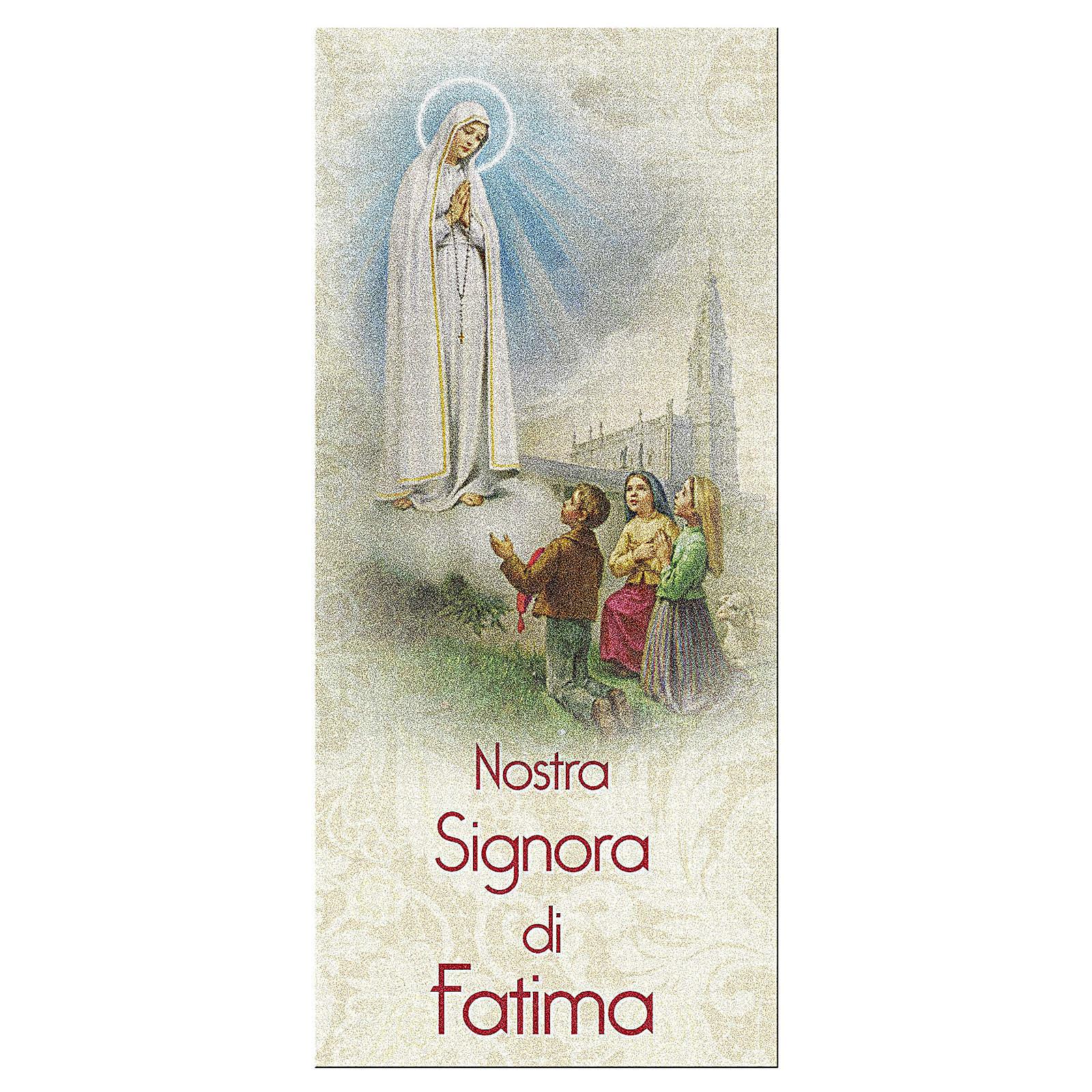 Zakładka karton perłowy 15X5 cm Nasza Pani z Fatimy Modlitwa IT 4