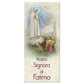 Zakładka karton perłowy 15X5 cm Nasza Pani z Fatimy Modlitwa IT s1