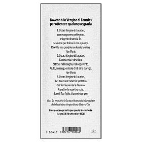 Segnalibro carta perlata Apparizione di Lourdes Novena 15x5 cm ITA s2