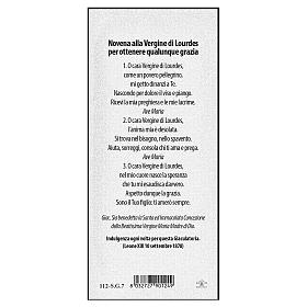 Bookmark in pearl cardboard Our Lady of Lourdes Novena 15x5 cm ITA s2