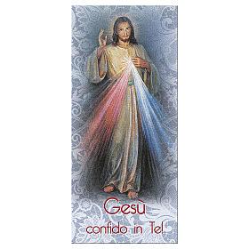 Bookmark in pearl cardboard Jesus the Compassionate 15x5 cm ITA s1