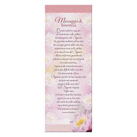 Segnalibro carta perlata Ninfea Messaggio Tenerezza 15x5 cm s1