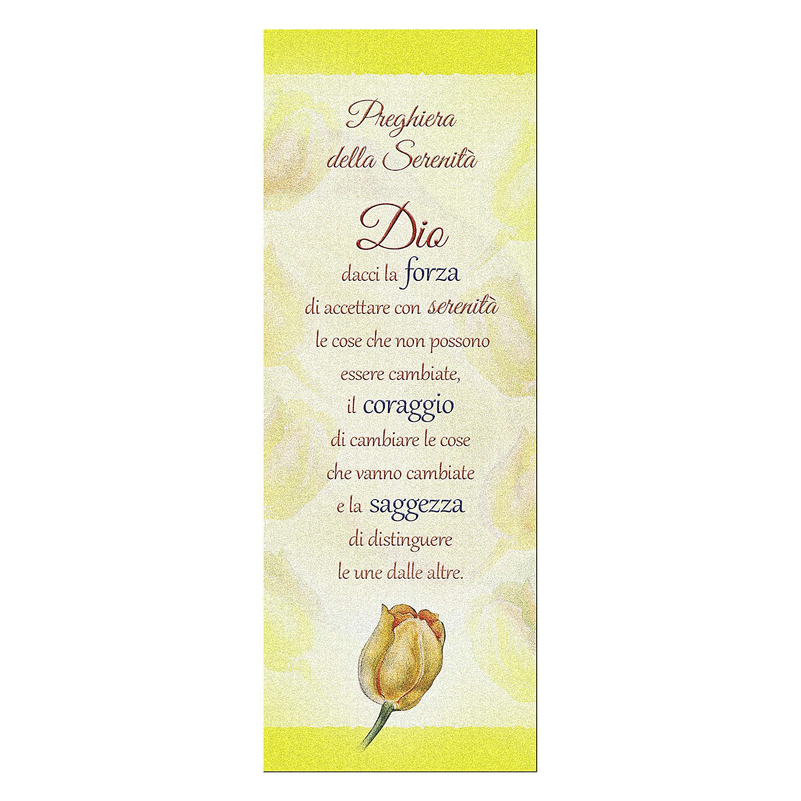 Segnalibro carta perlata Tulipano Preghiera Serenità 15x5 cm 4