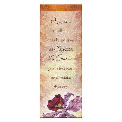 Segnalibro carta perlata Orchidea Benedizione  15x5 cm 1
