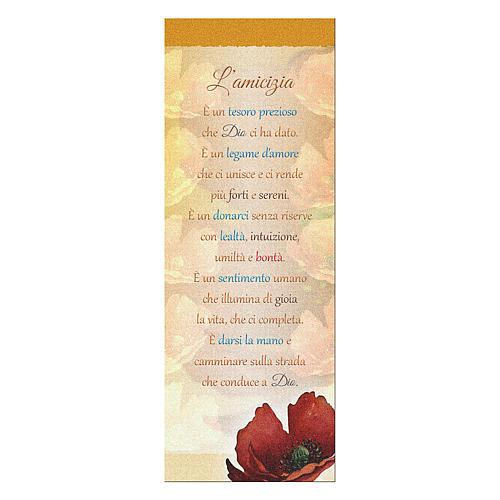 Segnalibro carta perlata Papavero L'amicizia 15x5 cm 1