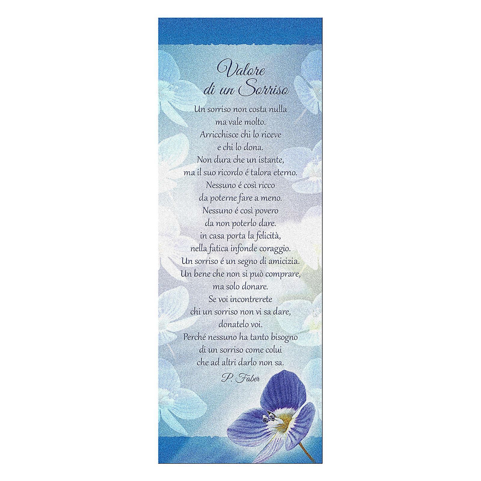 Marcalibros papel perlado Orquídea - Valor de una sonrisa 15x5 cm 4