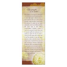Segnalibro carta perlata Crisantemo Non Piangete 15x5 cm s1