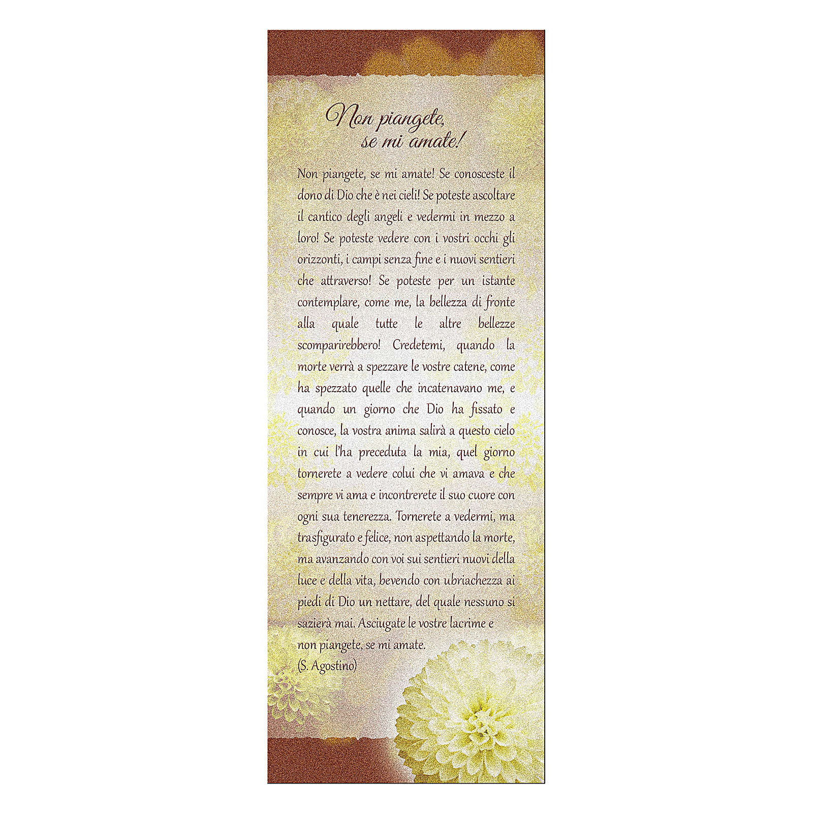 Bookmark in pearl cardboard with chrysanthemum Don't Cry 15x5 cm 4