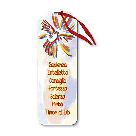 Segnalibro legno con chiudi pacco Spirito Santo 15x5 cm s1