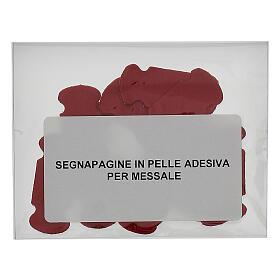Segnalibro in pelle rossa adesiva 15 pz s2