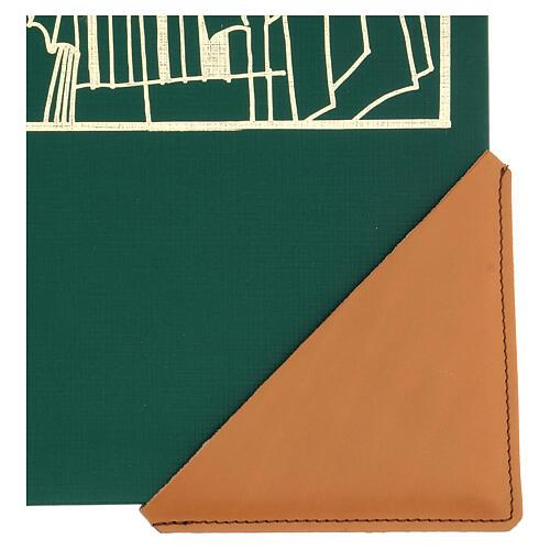 Cognac leather corner protector for liturgical books 12 cm 2 pcs 2