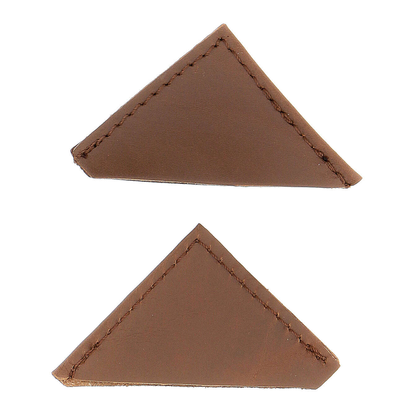 Brown leather corner protector for liturgical books 5 cm 2 pcs 4