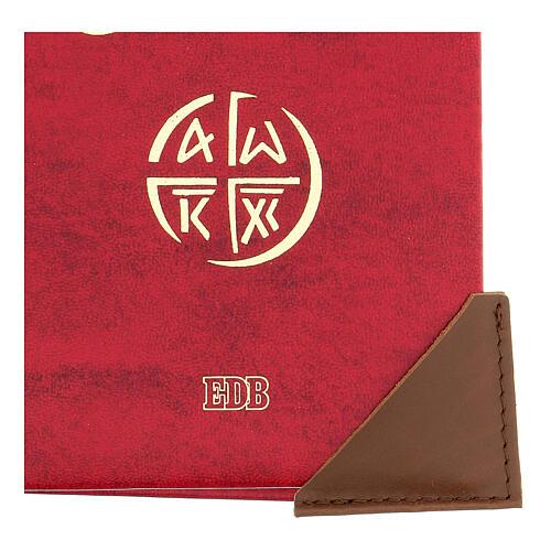 Salva angoli pelle marrone per libri liturgici 5 cm 2 pz 2