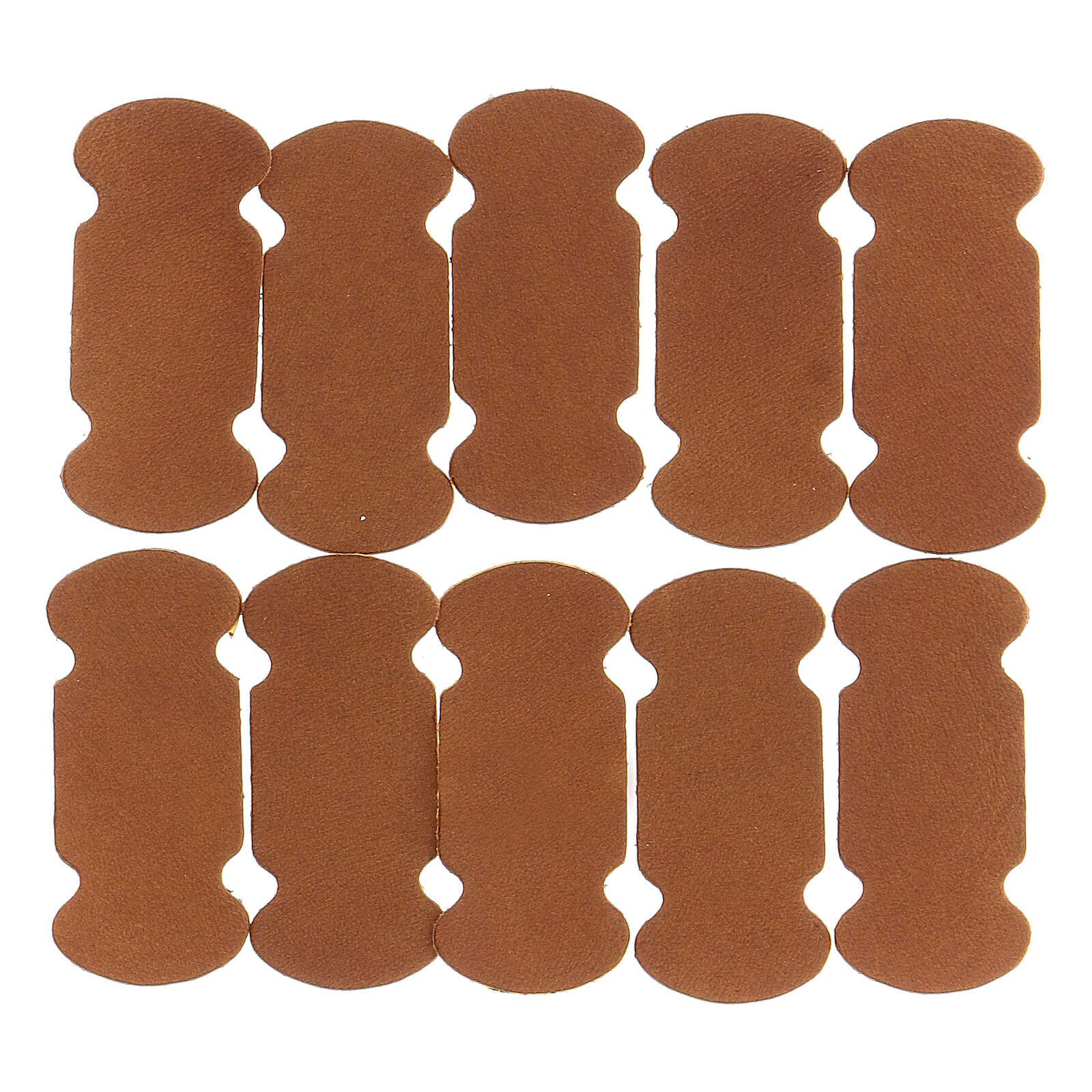 Bookmarks in brown leather 10 pieces for liturgical texts 4