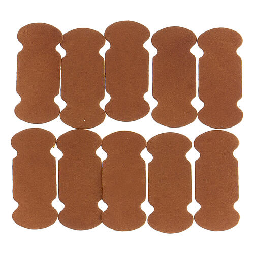 Bookmarks in brown leather 10 pieces for liturgical texts 1