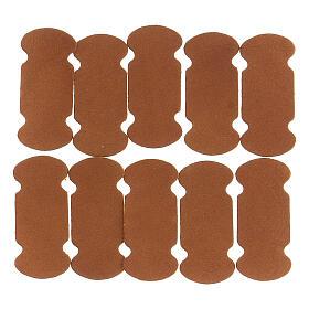 Marque-page adhésif cuir marron 10 pcs pour livres liturgiques s1